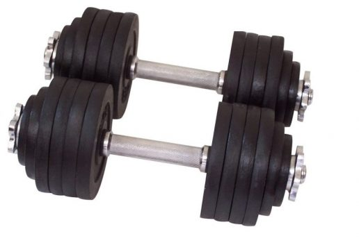 These unipack adjustable dumbbells are better suited to people with a good level of muscular strength