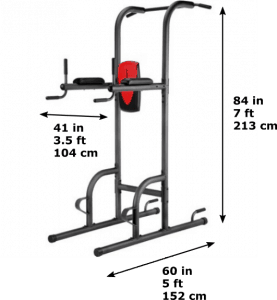 Weider power tower dimensions