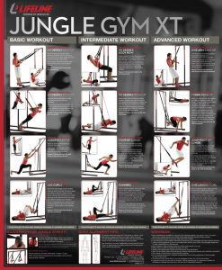 Lifeline Jungle Gym XT workout chart