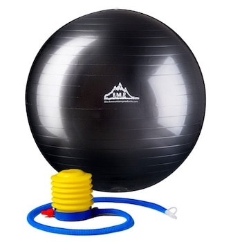 Stability balls are good pieces of equipment for building strength and balance in the core muscles