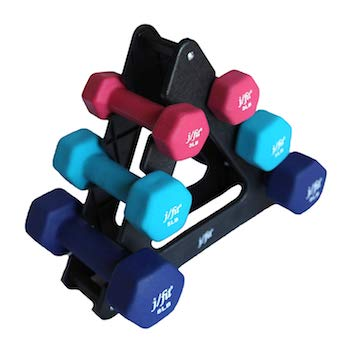 These j/fit neoprene dumbbells are great for beginner strength exercises