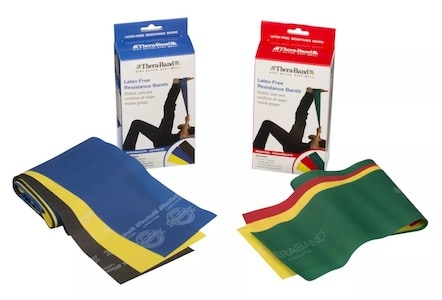 Theraband's non-latex resistance bands are great for rehabilitation purposes
