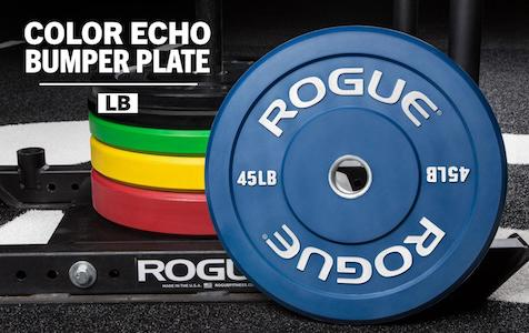 Rogue's color echo bumper plates are great quality and affordable