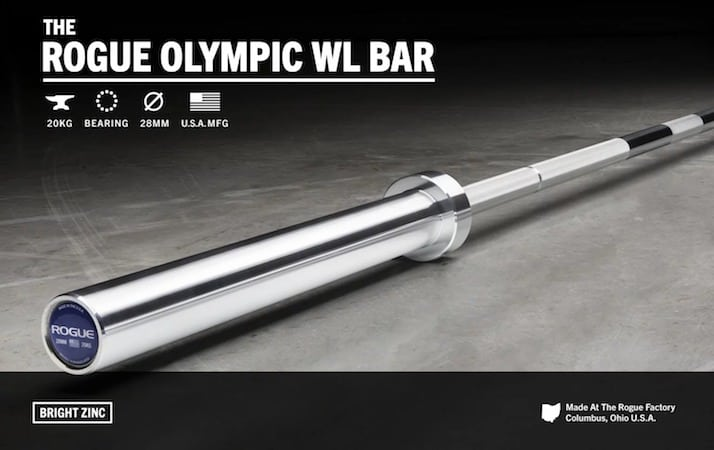 The Rogue Olympic WL Bar is a very good quality weightlifting bar