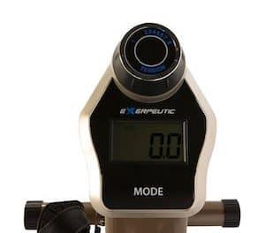 Exerpeutic gold 525xlr recumbent exercise bike image of console