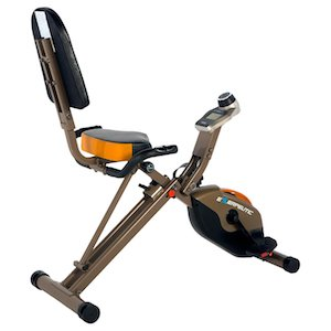Exerpeutic gold 525xlr recumbent exercise bike rear view of whole bike