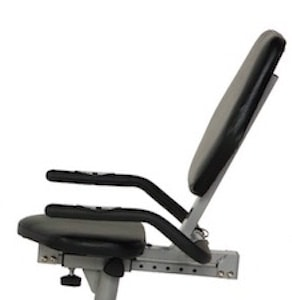 Exerpeutic 900xl recumbent exercise bike image of large seat and seat rail