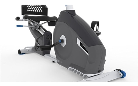 The Nautilus R616 recumbent bike has smooth and easy-to-use pedals