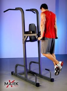 xmark xm 7617 power tower man doing dips