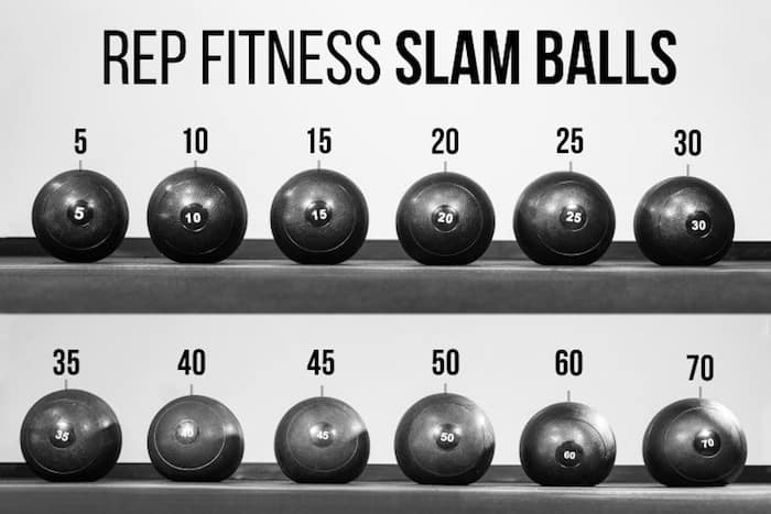 The range of rep fitness v2 slam balls is impressive