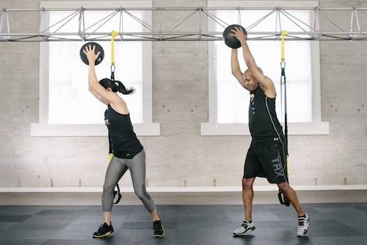 TRX slam balls are great for partner workouts