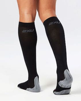 2XU compression socks are designed for the left and right feet