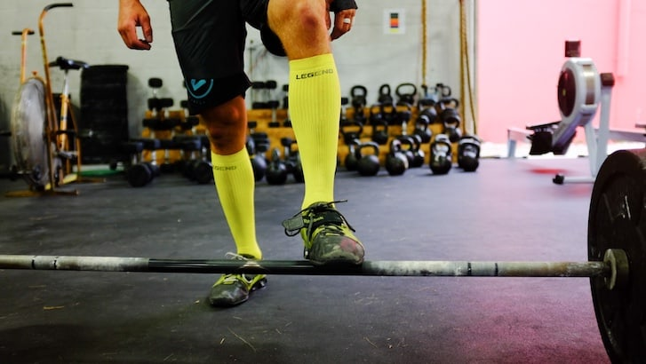 Compression socks have been found to be effective at aiding recovery from weight lifting