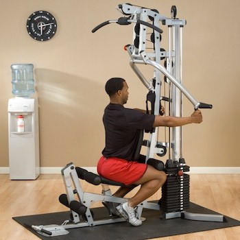 The seated row feature of the powerline home gym is fairly unique