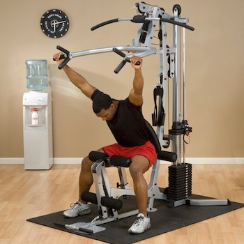 The shoulder press feature of the powerline home gym is unique