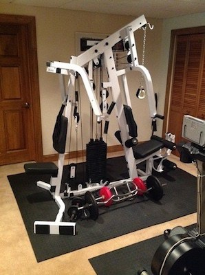 The body-solid strengthtech exm2500s home gym will be the centerpiece of your exercise area