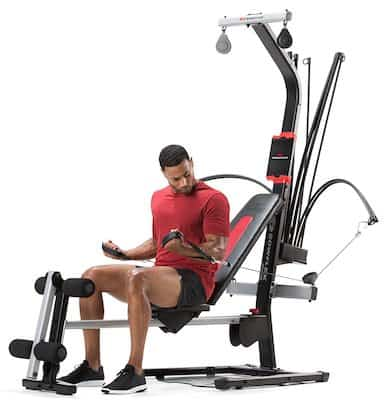 The bowflex pr1000 is a long machine with a large footprint