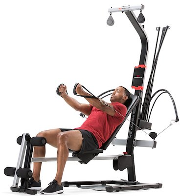 The Bowflex pr1000's handles allow for a versatile range of exercises