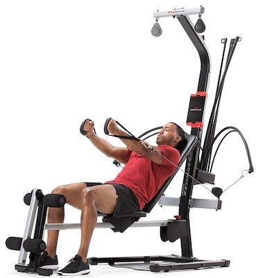 The Bowflex pr1000's handles allow for a versatile range of exercises