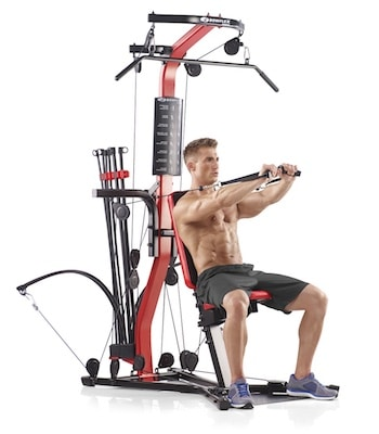 The bowflex pr3000 uses flexible polymer rods to create resistance
