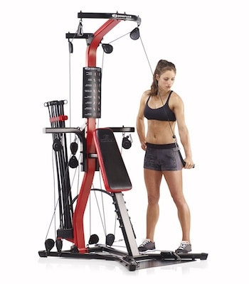 The bowflex pr3000 is a unique machine in that it can fold up , and comes with multiple sets of handles