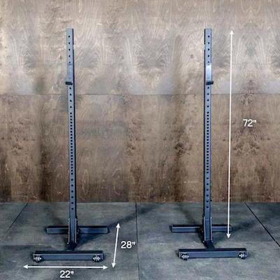 The OneFitWonder Indies are a solid two piece squat rack