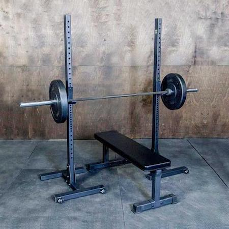 Fringe Sport's OneFitWonder Commercial Indy Squat Racks are a good middle ground between the S-4s and the Vulcans