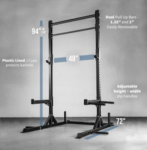 While it's great value, the Rep squat stand has a large footprint and may not be suitable for every setup