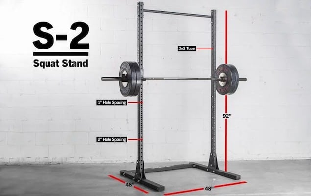 The Rogue S-2 is larger and includes a pullup bar