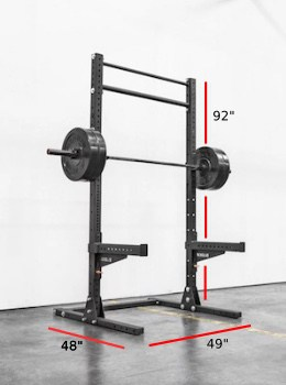 The Rogue SML-2 is similar in size and stature to the V-Hammer Squat Stand II