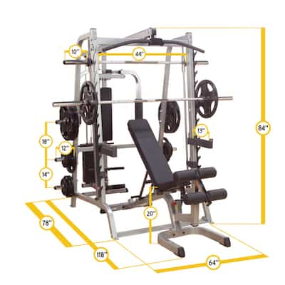 The Series & Smith Machine package is a massive piece of equipment
