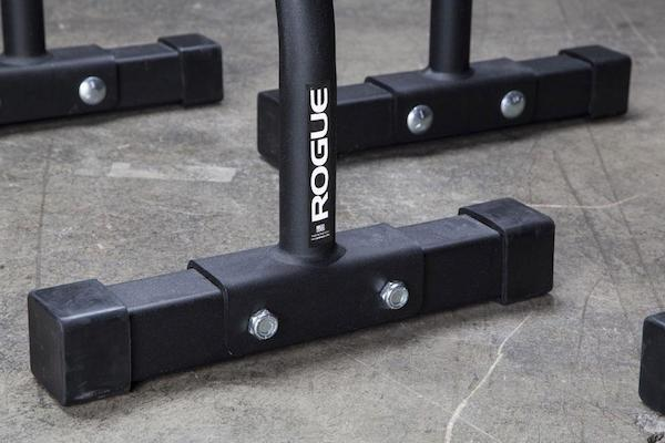 The bolt-together parallettes from Rogue Fitness are very well constructed