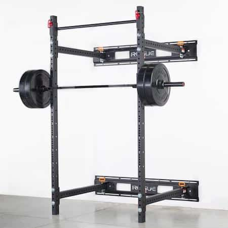 The R-3 fold-back rack is the ultimate space-saver, even though it's more of a squat rack