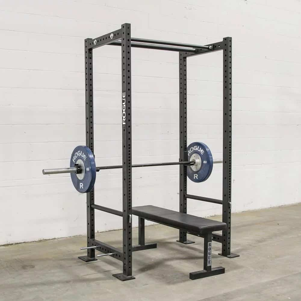 The Rogue R-3 power rack is by far the best power rack for a home or garage gym