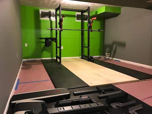Build a plywood platform for your R-3 power rack if you're uncomfortable with drilling into your floors