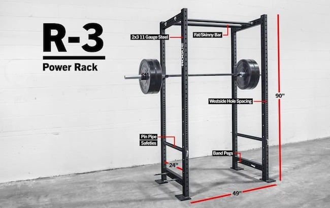 The Rogue R-3 is a specc'd out power rack