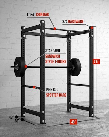 The Mammoth Racks are impressive pieces of strength training equipment