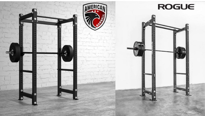 The American barbell Mammoth Power Racks are obviously modelled after the Rogue Monster Lite power racks