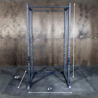 The Kip Cage has a medium sized footprint relative to the other racks in the list
