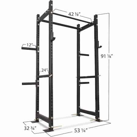 The T-3 series power rack is almost identical in size and shape to the Rogue R-3