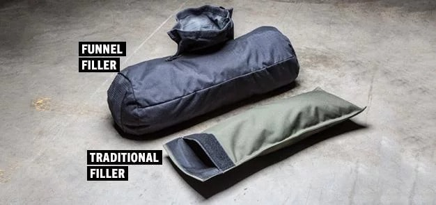 Rogue sandbags come with two different types of filler bags
