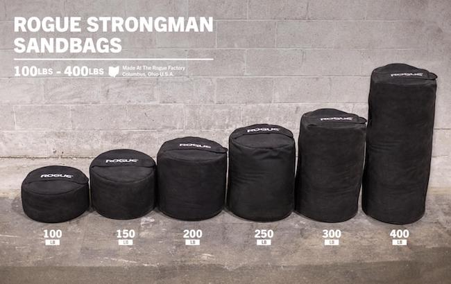 Rogue's Strongman Sandbags come in a great range os sizes and weights