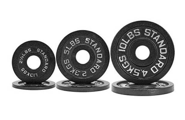 Fringe Sport's standard weight plates round out our top 5