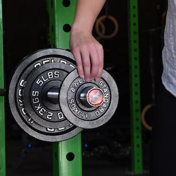 These weight plates are as good as any of the other low-cost options