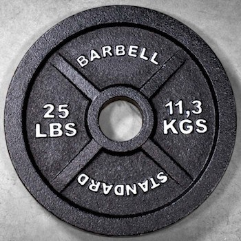 Rep's great value oly weight plates have both pounds and kilograms printed on them
