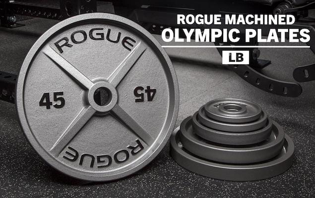 Rogue's machined olympic weight plates are the best on the market