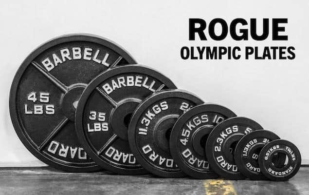 Rogue's classic olympic weight plates are another high quality product from this manufacturer