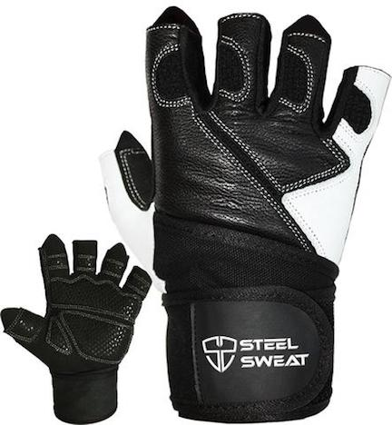 Steel sweat make these worthy leather weightlifting gloves