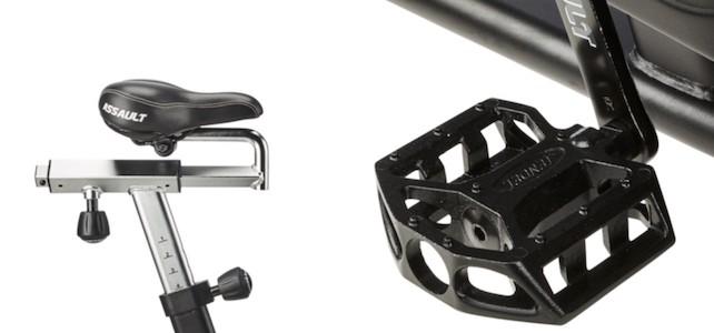 The assault air bike has a few design flaws