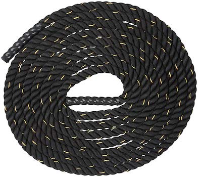 Looks good and works good does the AmazonBasics battle rope